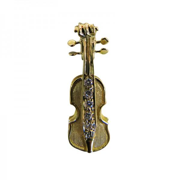 Geige Gold mit Brillanten 0.05 ct.