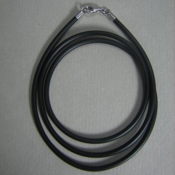 Kautschukband in schwarz, 45 cm