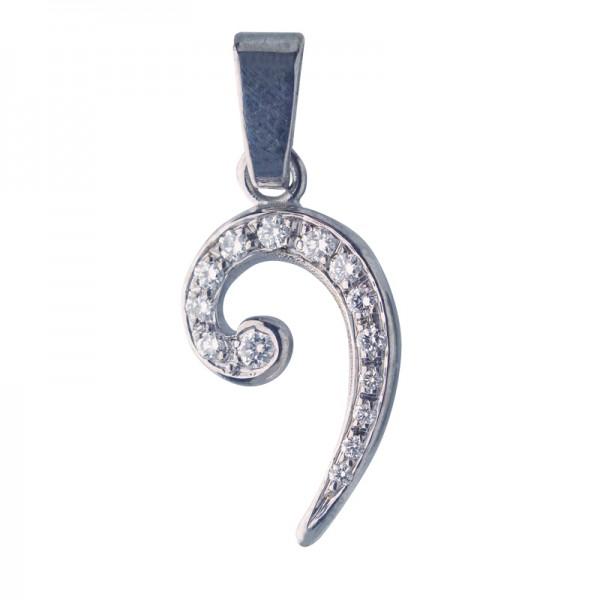 Bass-Schlüssel Weissgold, Diamant